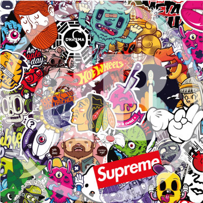 stickerbomb flex en vinyl